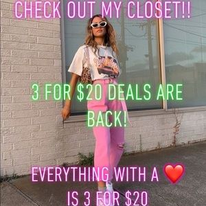 BUNDLE DEAL!! CHECK IT OUT! 3 items for $20!!!